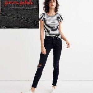 "Madewell 9"" High Rise Skinny Femme Fatale Jeans 25"